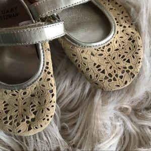 4/$25 Sale • Stuart Weitzman gold baby girl shoes